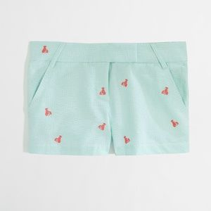 J.CREW Factory Lobster Embroidered City Fit Short